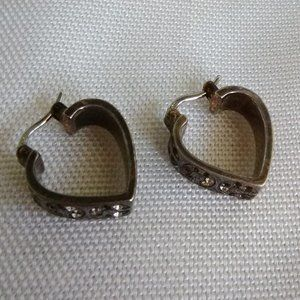 Coach Heart Huggie Earrings